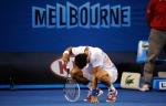 Djokovic tampak kelelahan usai reli panjang dengan Rafa© Ben Solomon/Tennis Australia